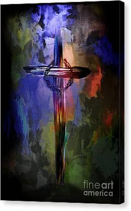 Cross With Crown. Canvas Print by Andrzej Szczerski