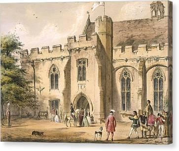 Crossbow Practice, Penhurst Place Canvas Print by Joseph Nash