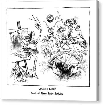 Show Girl Canvas Print - Crossed Paths Botticelli Meets Busby Berkeley by Ronald Searle