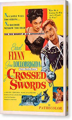 Crossed Swords, Us Poster Art Canvas Print by Everett