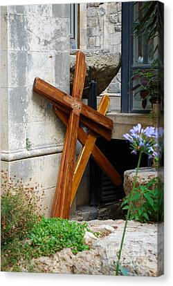 Crosses At Church Of The Flagellation Canvas Print
