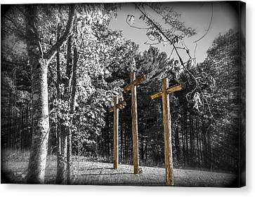 Crucifix Art Canvas Print - Crosses by Debra and Dave Vanderlaan
