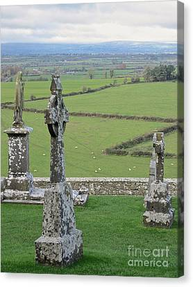 Crosses Of Cashel Canvas Print by Suzanne Oesterling