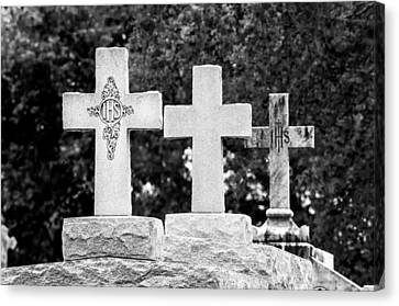 Crosses On A Tomb 2 Canvas Print