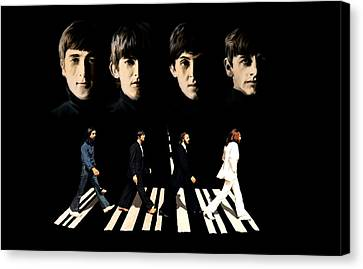 Crossing Into History The Beatles  Canvas Print by Iconic Images Art Gallery David Pucciarelli