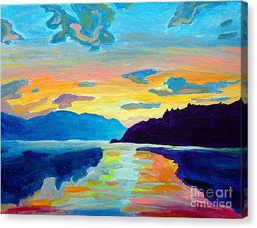 Crossing Lake Okanagan Canvas Print