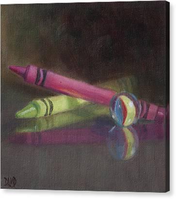 Crossing Over Canvas Print by Debbie Lamey-MacDonald