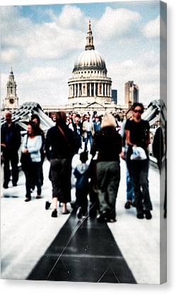 Crossing Over The Thames Canvas Print by Mark E Tisdale