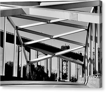 Canvas Print featuring the photograph Crossing Over Under Over Crossing by Lin Haring