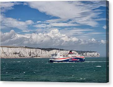 Canvas Print featuring the photograph Crossing The English Channel by Tim Stanley