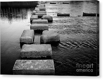 Crossing The Kamo River Canvas Print by Dean Harte