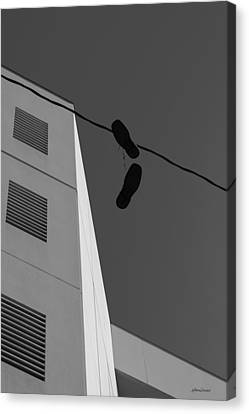 Canvas Print featuring the photograph Crossing The Line - Urban Life by Steven Milner