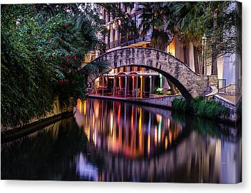 Crossing The River Canvas Print by Jeffrey Spencer