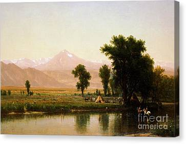 Crossing The River Platte Canvas Print by Pg Reproductions