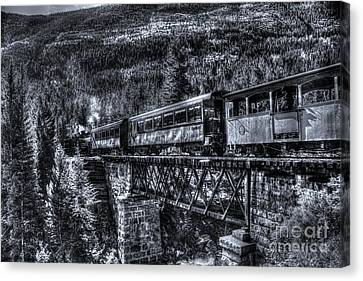 Crossing The Tressel Canvas Print by Steven Parker