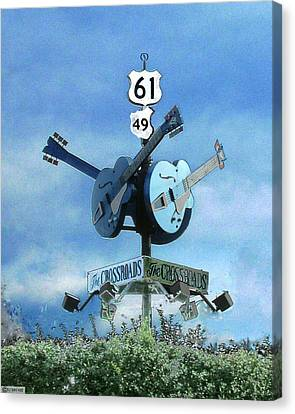 Crossroads In Clarksdale Canvas Print