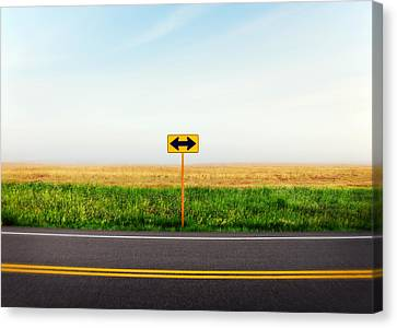 Crossroads Canvas Print by Todd Klassy