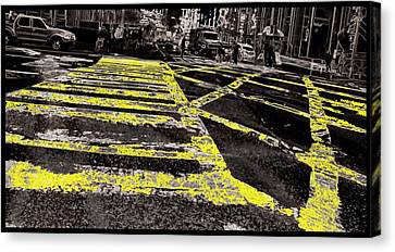 Crosswalks In New York City Canvas Print by Dan Sproul