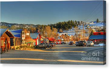 Canvas Print featuring the photograph Crouch Main St by Sam Rosen