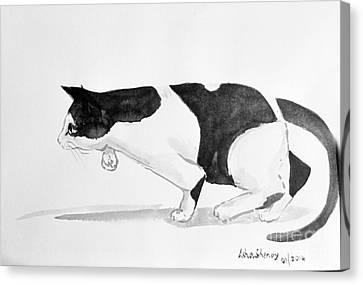Crouching Cat Canvas Print