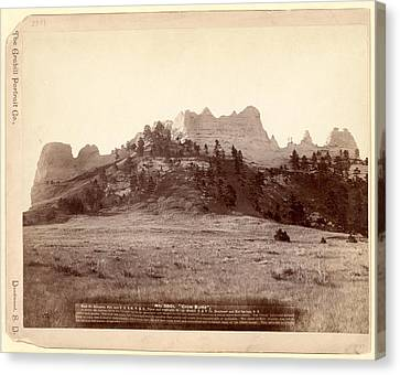 Crow Butte. Near Ft. Robinson, Neb. And F.e. & M.v. R.r. -- Canvas Print by Litz Collection