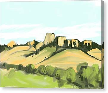 Crow Butte Canvas Print