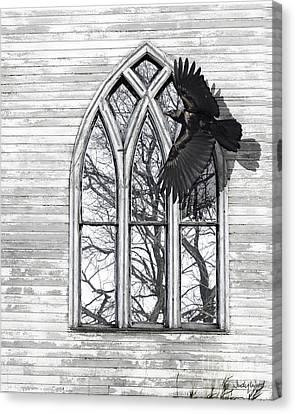 Crow Church Canvas Print by Judy Wood