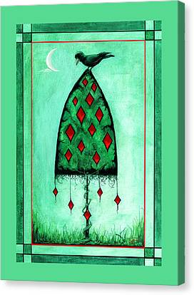Canvas Print featuring the mixed media Crow Dreams 2 by Terry Webb Harshman