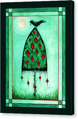 Canvas Print featuring the mixed media Crow Dreams by Terry Webb Harshman