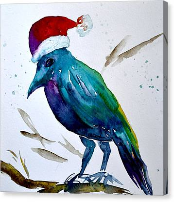 Crow Ho Ho Canvas Print by Beverley Harper Tinsley