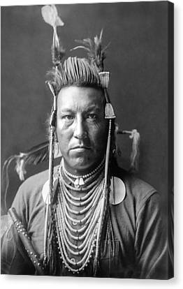 Crow Indian Circa 1908 Canvas Print by Aged Pixel