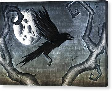 Eerie Canvas Print - Crow by Jody Scheers
