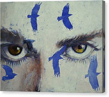 Crows Canvas Print by Michael Creese