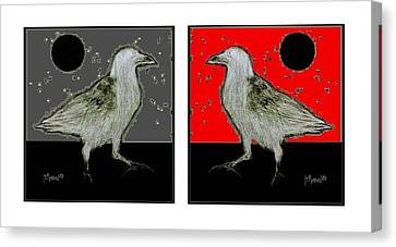 Crow5 Canvas Print by Herb Russel