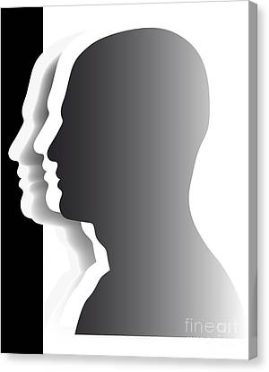 Crowd - Heads - Teamwork Canvas Print by Michal Boubin