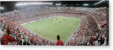 Crowd In A Stadium, Sevilla Fc, Estadio Canvas Print