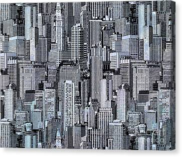 Crowded City Canvas Print by Bedros Awak