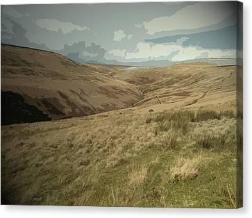 Crowden Brook From Loft Intake, Pictured From The Edge Canvas Print
