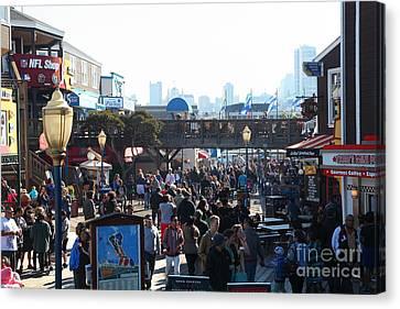Crowds At Pier 39 San Francisco California 5d26134 Canvas Print