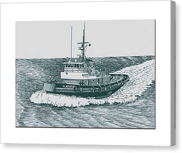 155 Canvas Print - Crowley Tugboat Ocean Going Gladiator by Jack Pumphrey