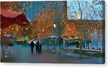Crown Center Christmas Canvas Print