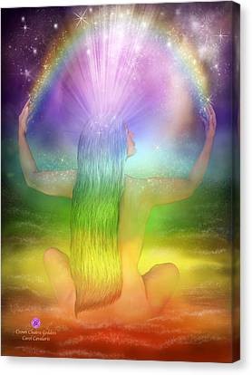 Crown Chakra Goddess Canvas Print by Carol Cavalaris