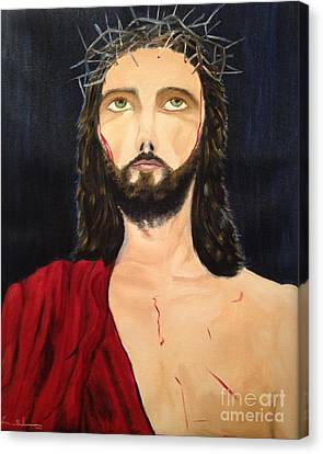 Canvas Print featuring the painting Crown Of Thorns by Brindha Naveen