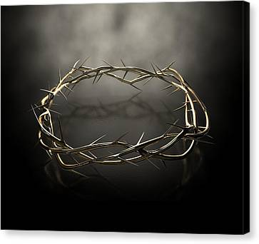 Crown Of Thorns Gold Casting Canvas Print