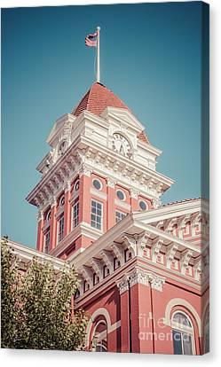 Crown Point Courthouse Retro Photo Canvas Print