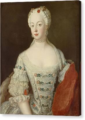 Crown Princess Elisabeth Christine Von Preussen, C.1735 Oil On Canvas Canvas Print