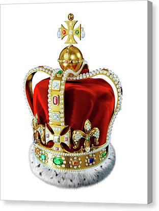 Crown With Jewels Canvas Print by Leonello Calvetti