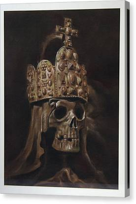 Crowned Death Canvas Print