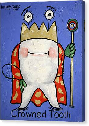 Crowned Tooth Canvas Print