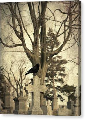 Crow's Cross Canvas Print by Gothicrow Images
